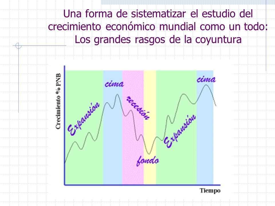 Una forma de sistematizar el estudio del crecimiento económico mundial como un todo: Los grandes rasgos de la coyuntura
