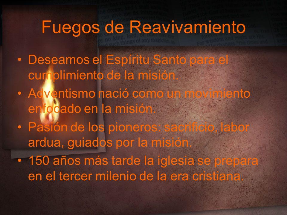 Deseamos el Espíritu Santo para el cumplimiento de la misión.