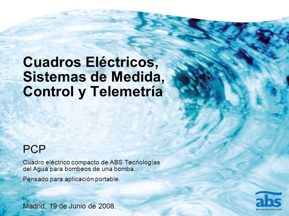 Cuadros Eléctricos, Sistemas de Medida, Control y Telemetría PCP Cuadro eléctrico compacto de ABS Tecnologías del Agua para bombeos de una bomba.