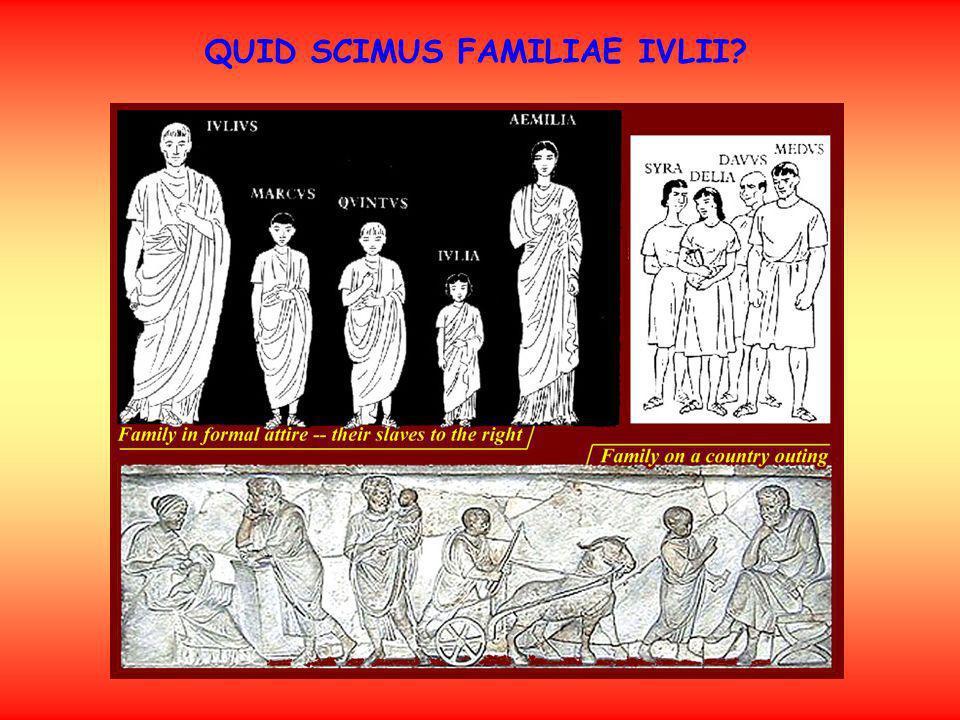 QUID SCIMUS FAMILIAE IVLII?