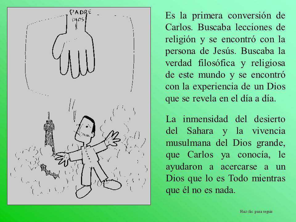 Haz clic para seguir Es la primera conversión de Carlos. Buscaba lecciones de religión y se encontró con la persona de Jesús. Buscaba la verdad filosó