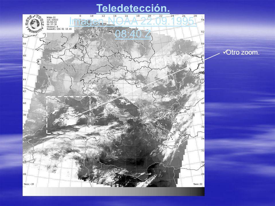 Teledetección. Imagen NOAA 22.09.1995. 08:40 Z Otro zoom.