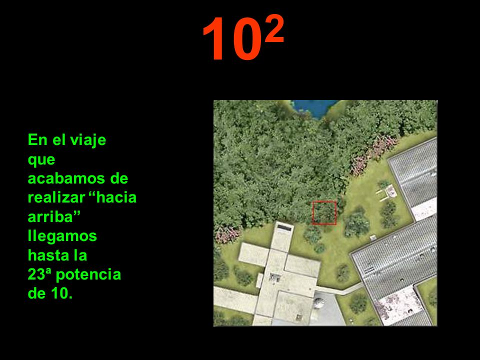 10 2 En el viaje que acabamos de realizar hacia arriba llegamos hasta la 23ª potencia de 10.