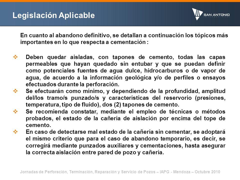 Jornadas de Perforación, Terminación, Reparación y Servicio de Pozos – IAPG - Mendoza – Octubre 2010 Lechada con Microsílice