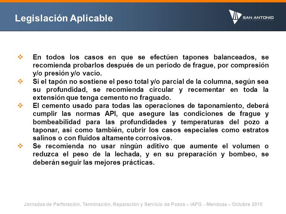 Jornadas de Perforación, Terminación, Reparación y Servicio de Pozos – IAPG - Mendoza – Octubre 2010 Metodología Actual 20 a 35 bbl de preflujo, según la zona, compuesto de gel activado de 50 lb/1000gal.