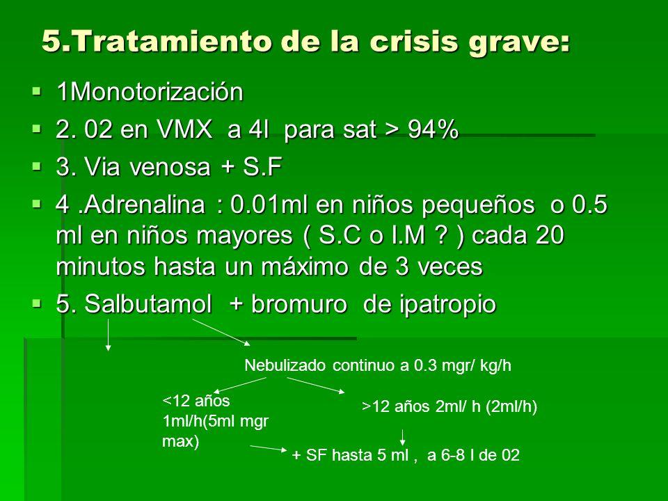 5.Tratamiento de la crisis grave: 1Monotorización 1Monotorización 2.