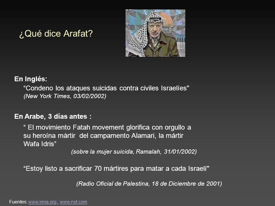 ¿Qué dice Arafat.