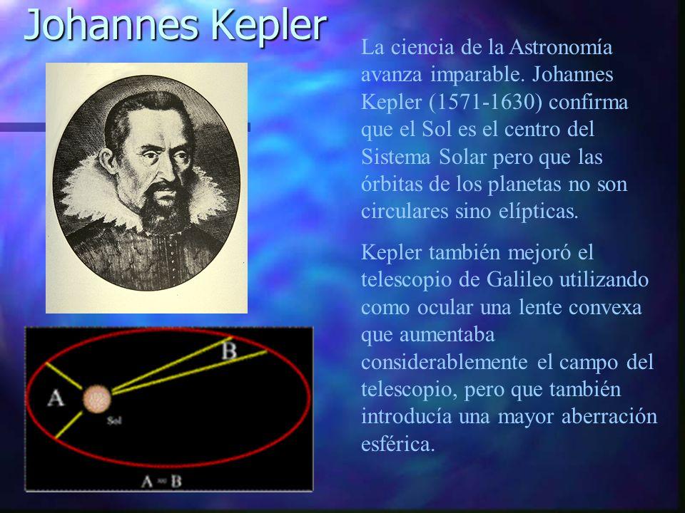 La ciencia de la Astronomía avanza imparable. Johannes Kepler (1571-1630) confirma que el Sol es el centro del Sistema Solar pero que las órbitas de l