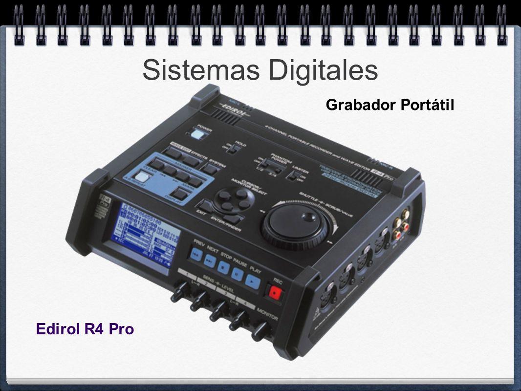 Sistemas Digitales Edirol R4 Pro Grabador Portátil
