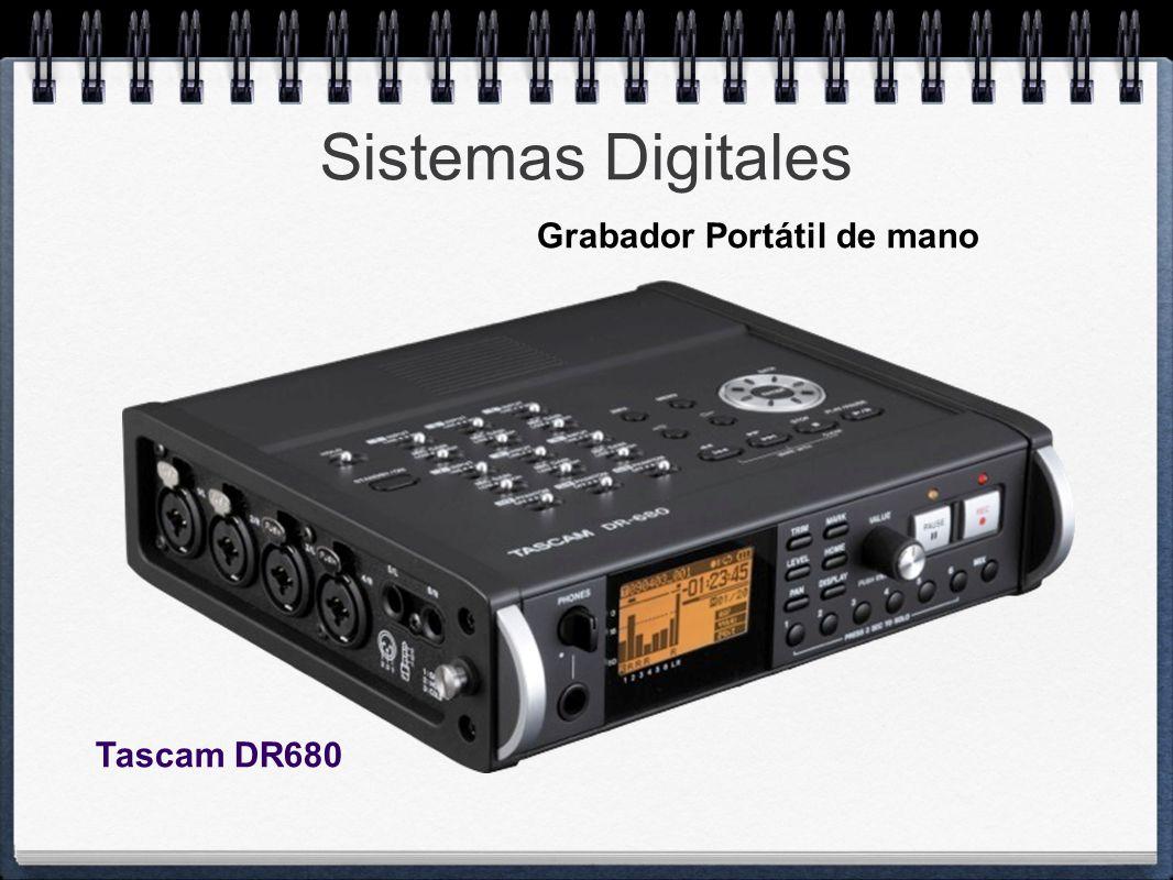 Sistemas Digitales Tascam DR680 Grabador Portátil de mano