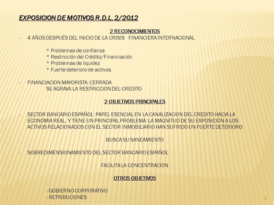 EXPOSICION DE MOTIVOS R.D.L.