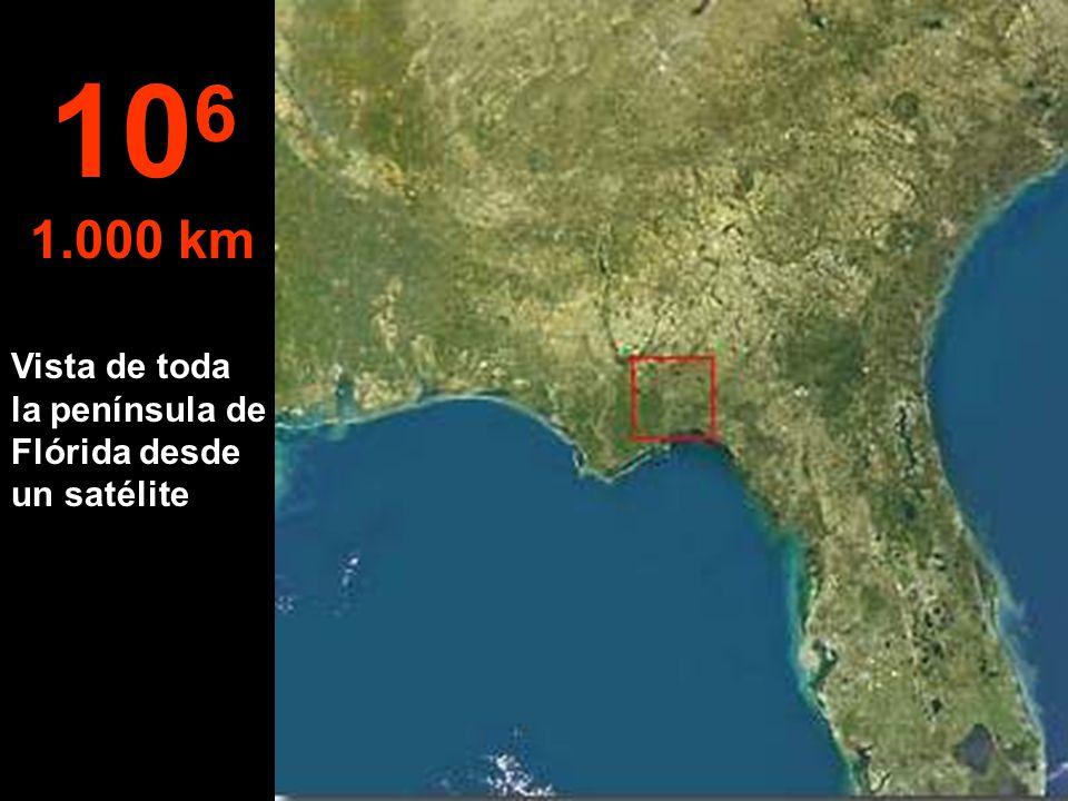 A esta altura, ya se puede ver todo el Estado de Flórida (USA) 10 5 100 km