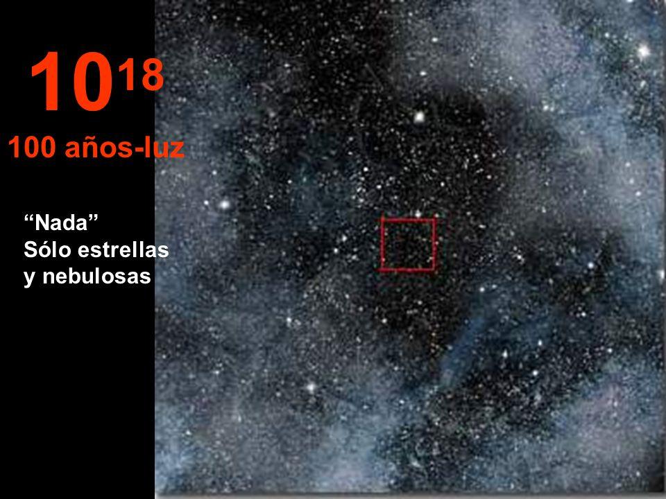 Aquí sólo veríamos estrellas en el infinito... 10 17 10 años-luz