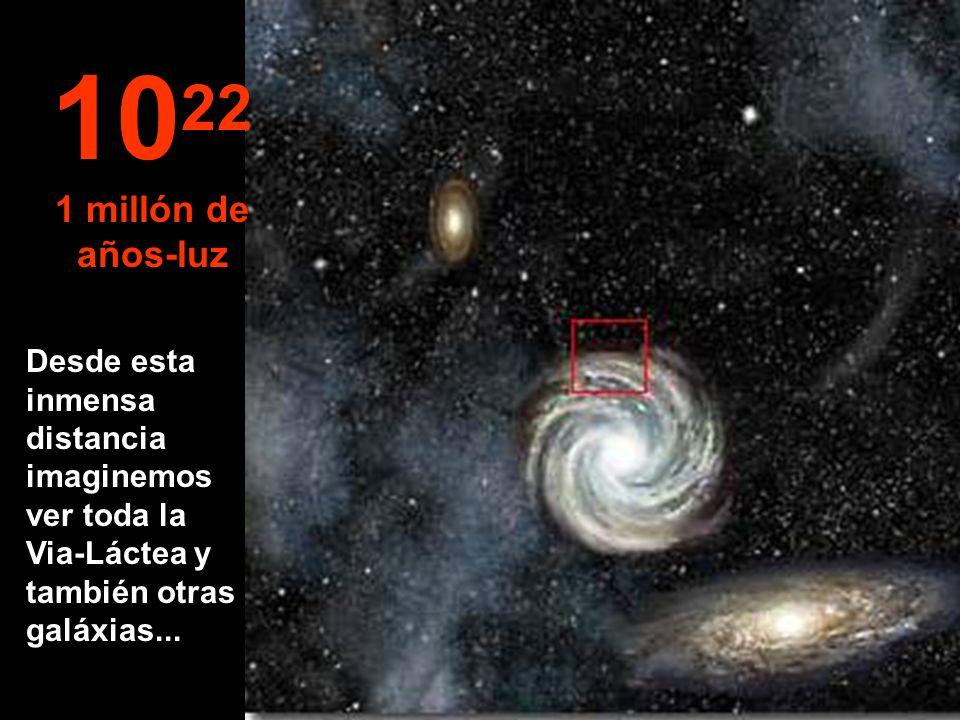 Ahora estaríamos llegando a la periferia de nuestra Via-Láctea 10 21 100.000 años-luz