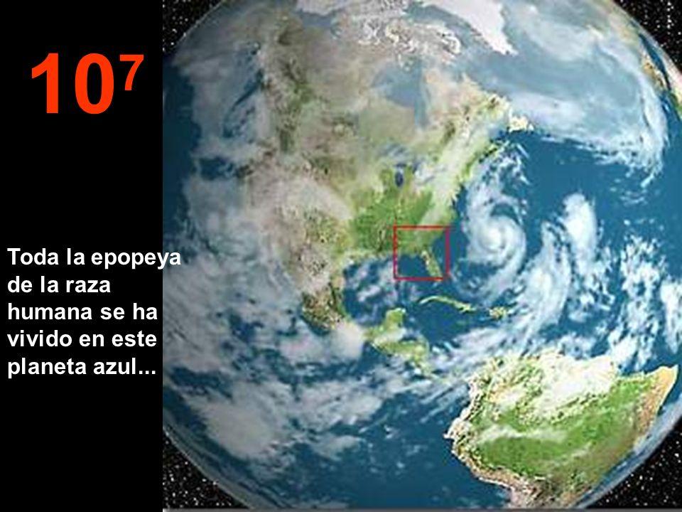 10 8 Ahora vamos a disminuir de nuevo la velocidad. Podemos ver otra vez a nuestra querida Tierra.