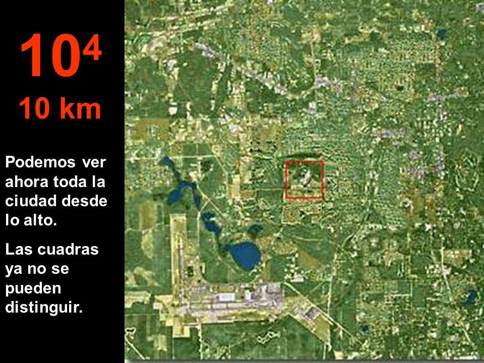 Ahora pasamos de metros a un kilómetro... Ya es posible saltar en paracaídas... 10 3 1 km