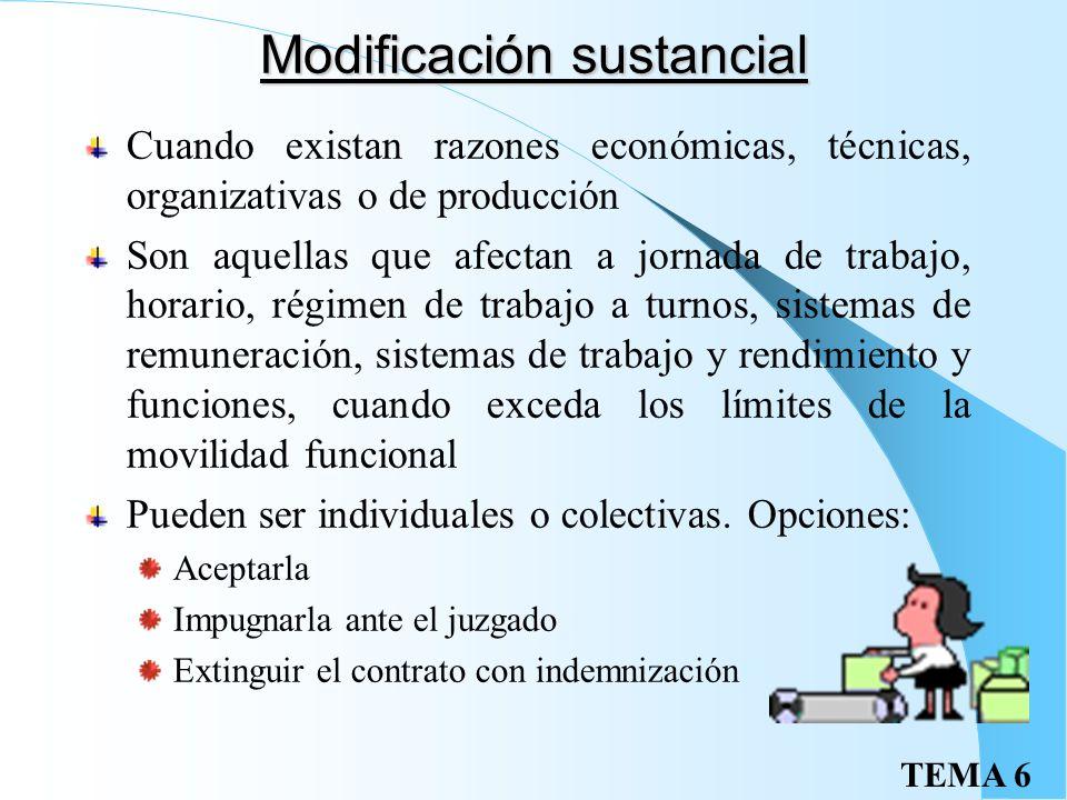 TEMA 6 Movilidad geográfica II Desplazamiento temporal Cuando se cambia de centro de trabajo que implica cambio de residencia temporal, siempre que no