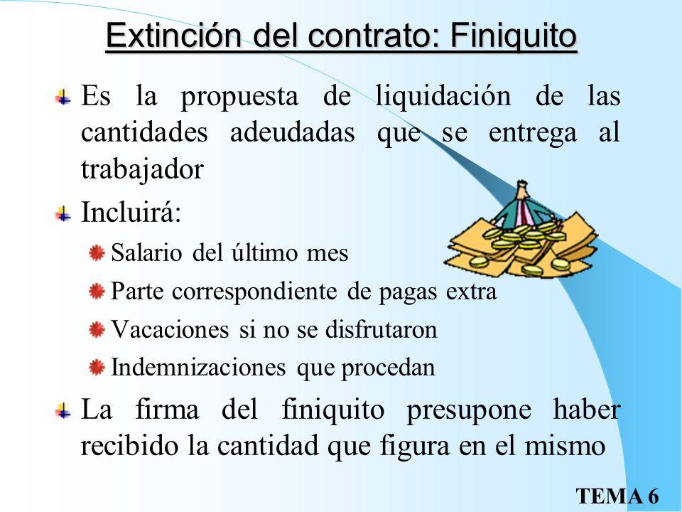 TEMA 6Excedencia Excedencia voluntaria No se conserva la antigüedad y solo supone derecho de reingreso preferente a vacantes similares Excedencia forz