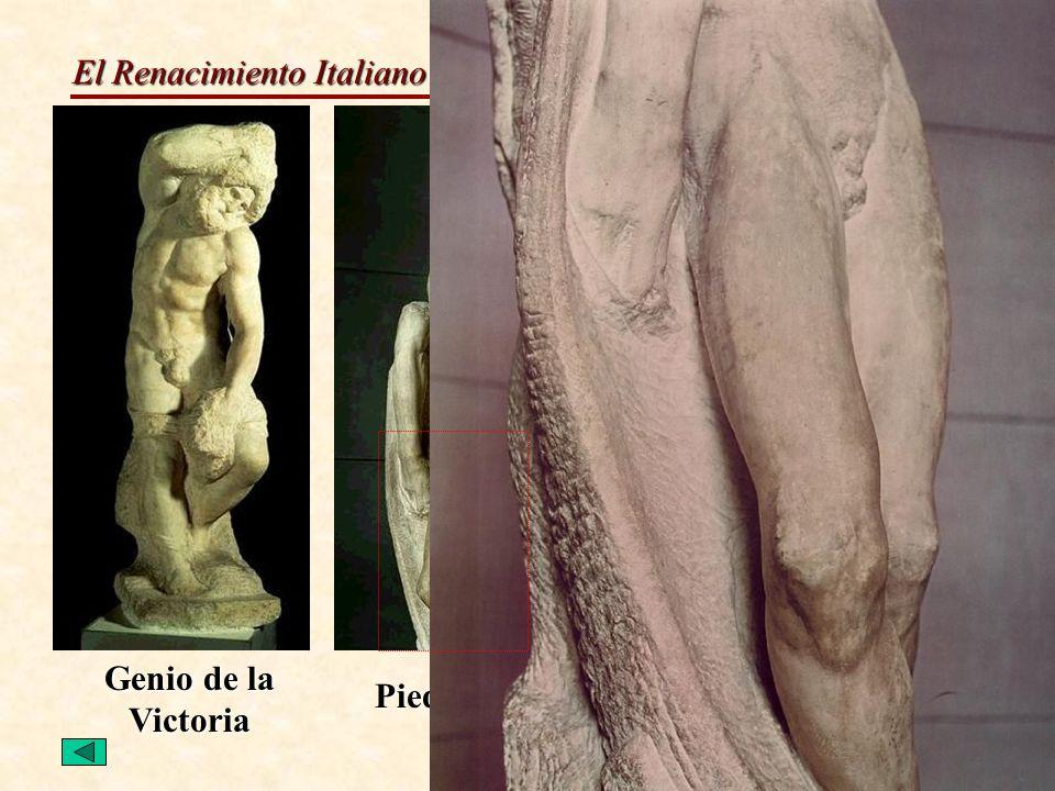 El Renacimiento Italiano del S.XVI Escultura M. Ángel Genio de la Victoria Piedad Rondanini