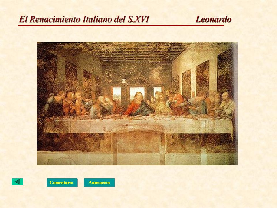 El Renacimiento Italiano del S.XVI Leonardo Comentario Animación