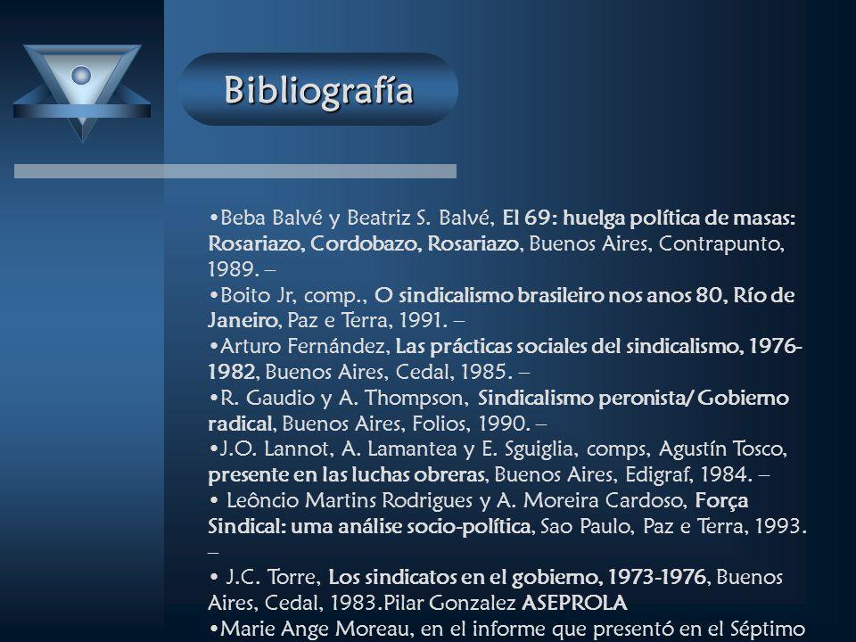 Bibliografía Beba Balvé y Beatriz S.