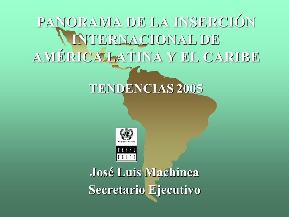Comercio intrarregional Comercio extrarregional La integración favorece las exportaciones con mayor valor agregado 2004* Fuente: Comisión Económica para América Latina y el Caribe (CEPAL), sobre la base de información oficial * Cifras preliminares