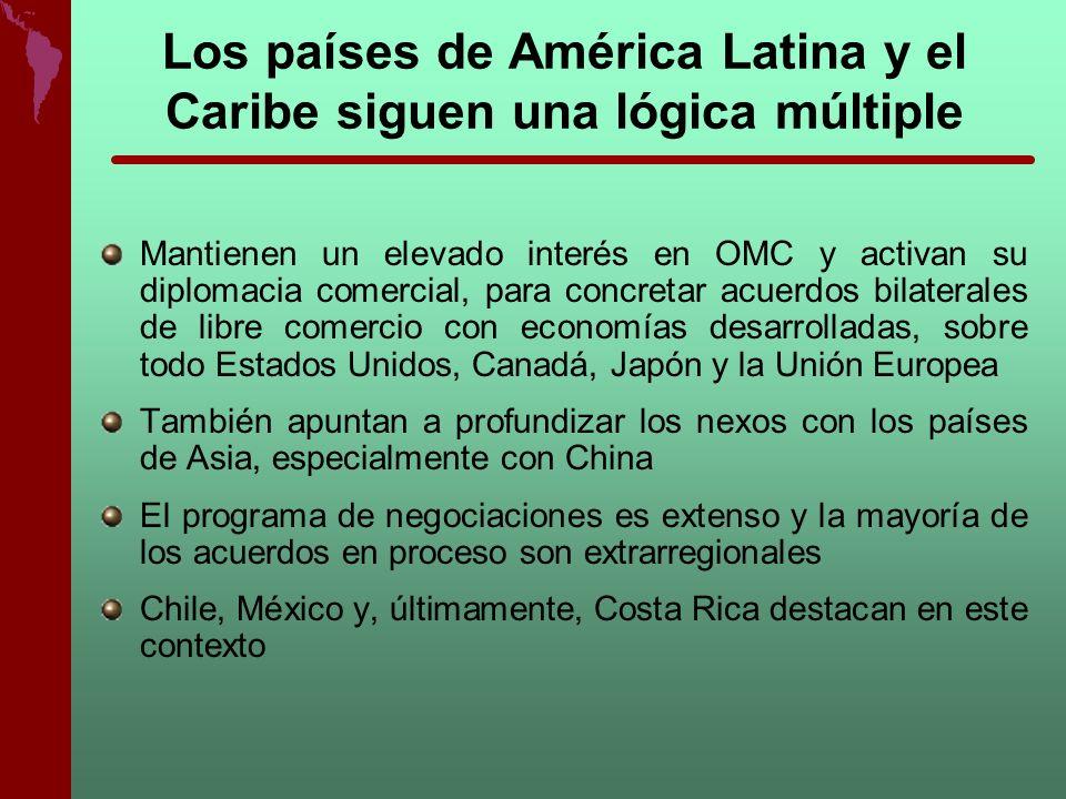 Los países de América Latina y el Caribe siguen una lógica múltiple Mantienen un elevado interés en OMC y activan su diplomacia comercial, para concre