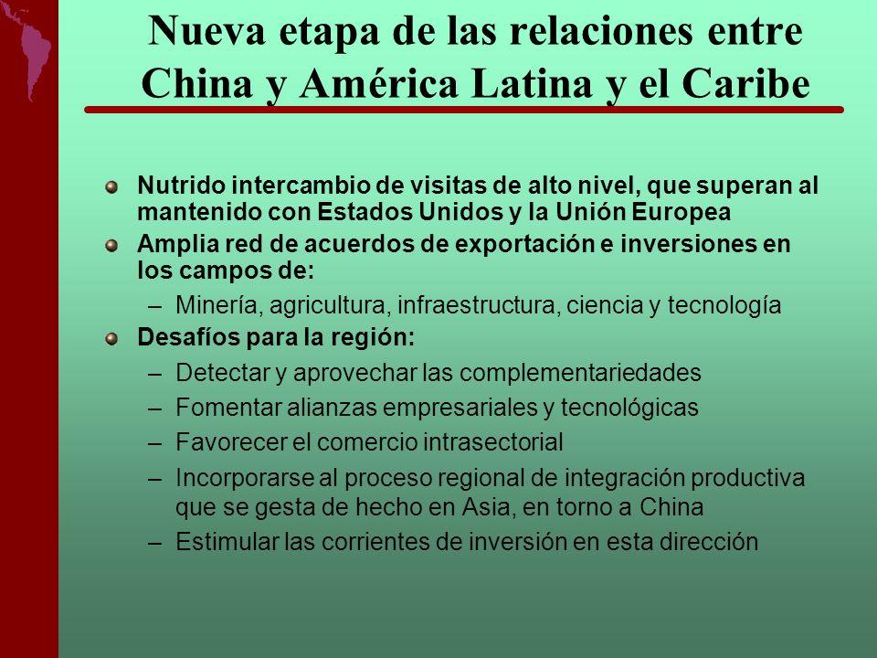 Nueva etapa de las relaciones entre China y América Latina y el Caribe Nutrido intercambio de visitas de alto nivel, que superan al mantenido con Esta