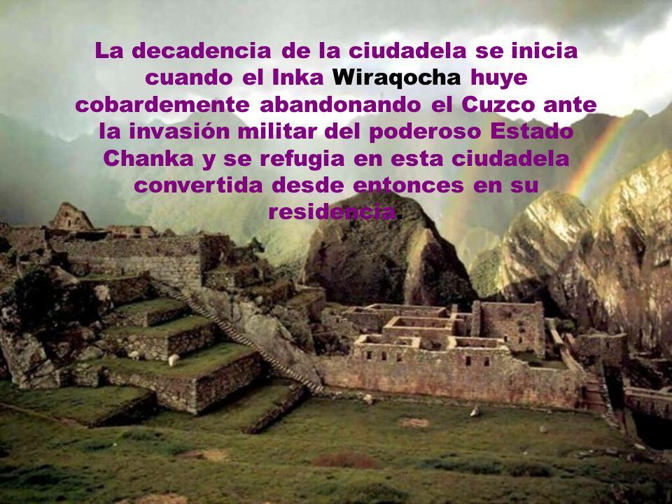 Llegó a su máximo esplendor durante el reinado del Inka Wiraqocha quien gobernó el Cuzco como un rey bondadoso, manso y querido por sus súbditos. Culm