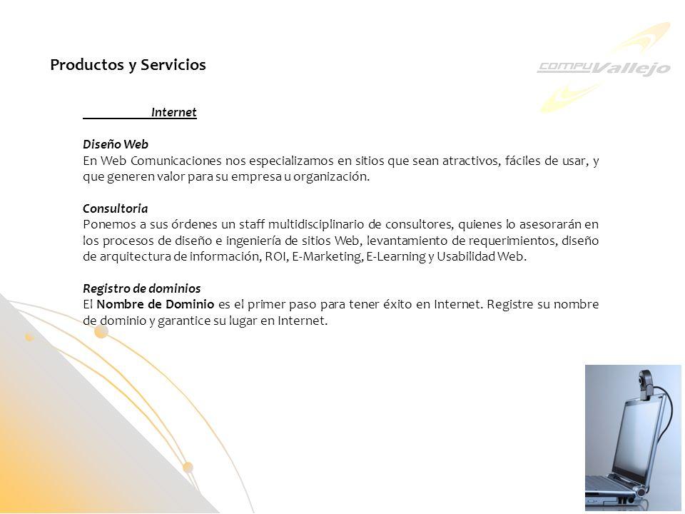 Internet Diseño Web En Web Comunicaciones nos especializamos en sitios que sean atractivos, fáciles de usar, y que generen valor para su empresa u org