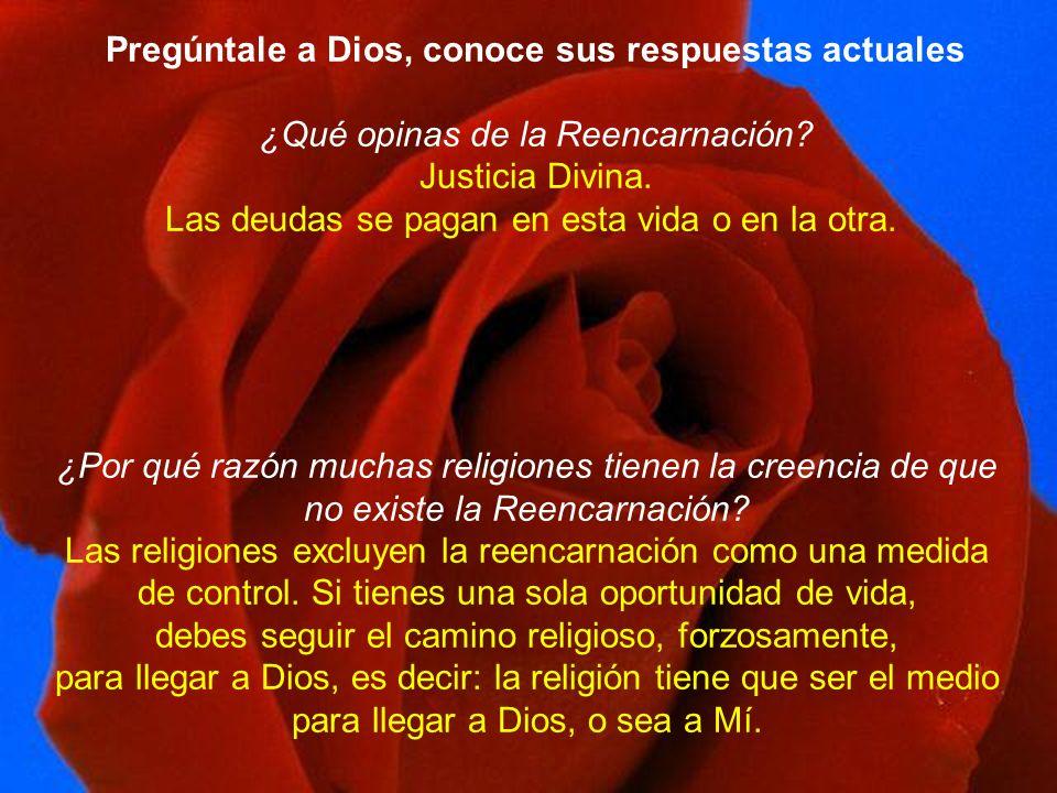 Pregúntale a Dios, conoce sus respuestas actuales ¿Qué opinas de la Reencarnación.