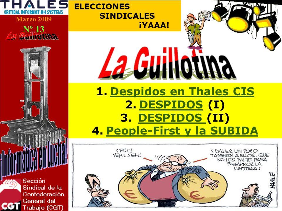 Marzo 2009 Nº 13 ELECCIONES SINDICALES ¡YAAA.