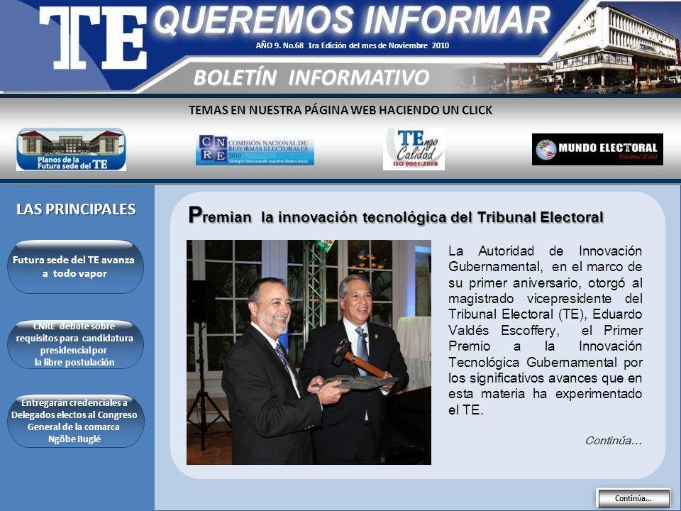 TEMAS EN NUESTRA PÁGINA WEB HACIENDO UN CLICK LAS PRINCIPALES BOLETÍN INFORMATIVO AÑO 9.