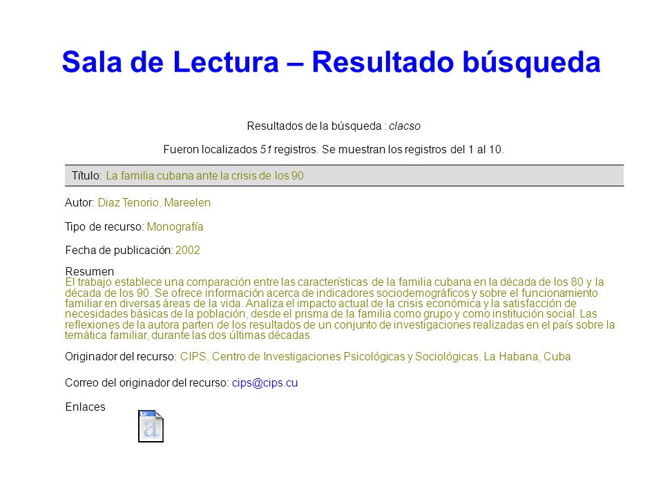 Resultados de la búsqueda : clacso Fueron localizados 51 registros. Se muestran los registros del 1 al 10. Autor: Diaz Tenorio, Mareelen Tipo de recur