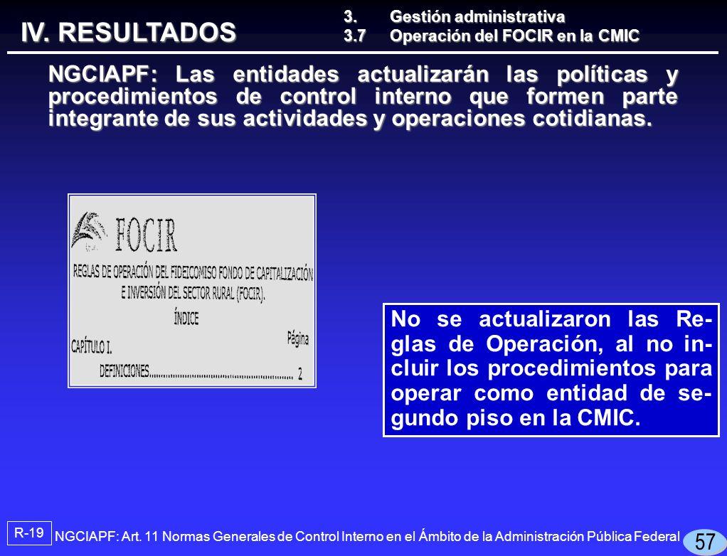 No se actualizaron las Re- glas de Operación, al no in- cluir los procedimientos para operar como entidad de se- gundo piso en la CMIC.