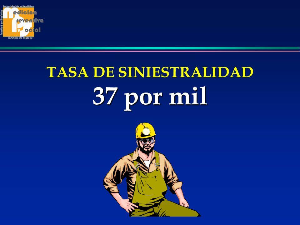 37 por mil TASA DE SINIESTRALIDAD 37 por mil