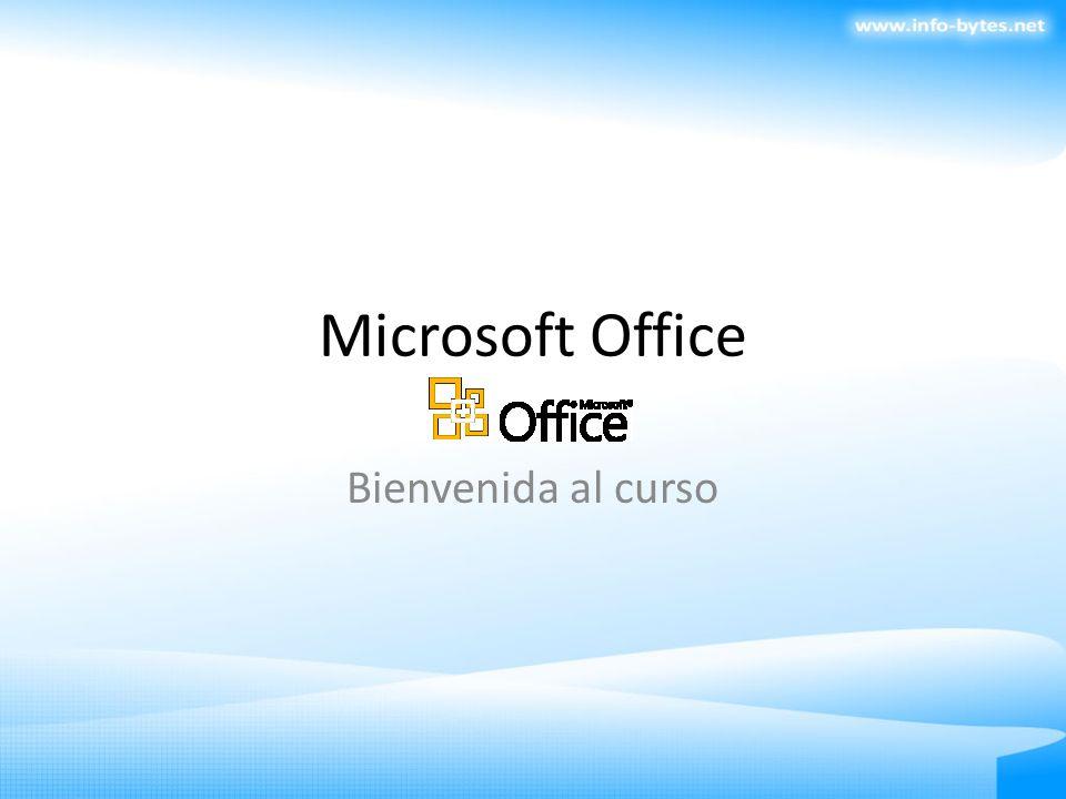 Microsoft Office Bienvenida al curso