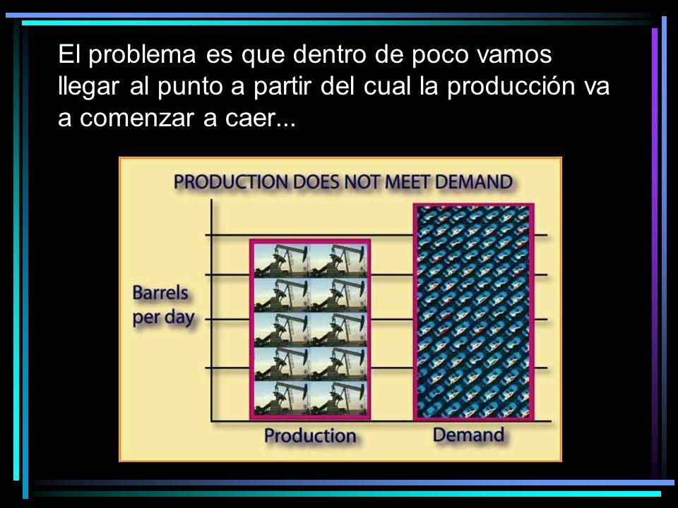 El problema es que dentro de poco vamos llegar al punto a partir del cual la producción va a comenzar a caer...