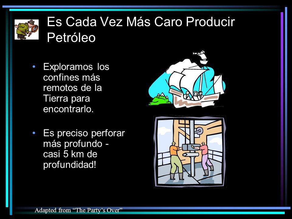 Es Cada Vez Más Caro Producir Petróleo Adapted from The Partys Over Es preciso perforar más profundo - casi 5 km de profundidad.