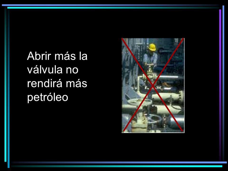 Abrir más la válvula no rendirá más petróleo