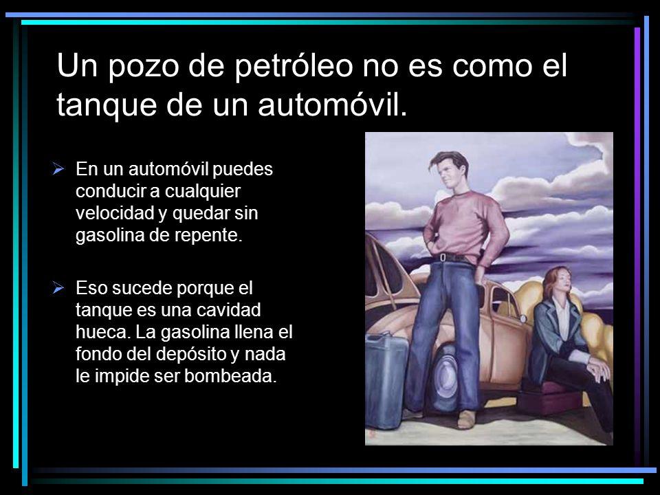 Un pozo de petróleo no es como el tanque de un automóvil.