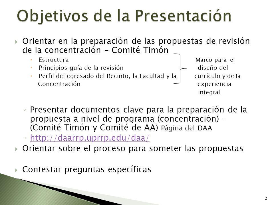 Orientar en la preparación de las propuestas de revisión de la concentración - Comité Timón Estructura Marco para el Principios guía de la revisión di