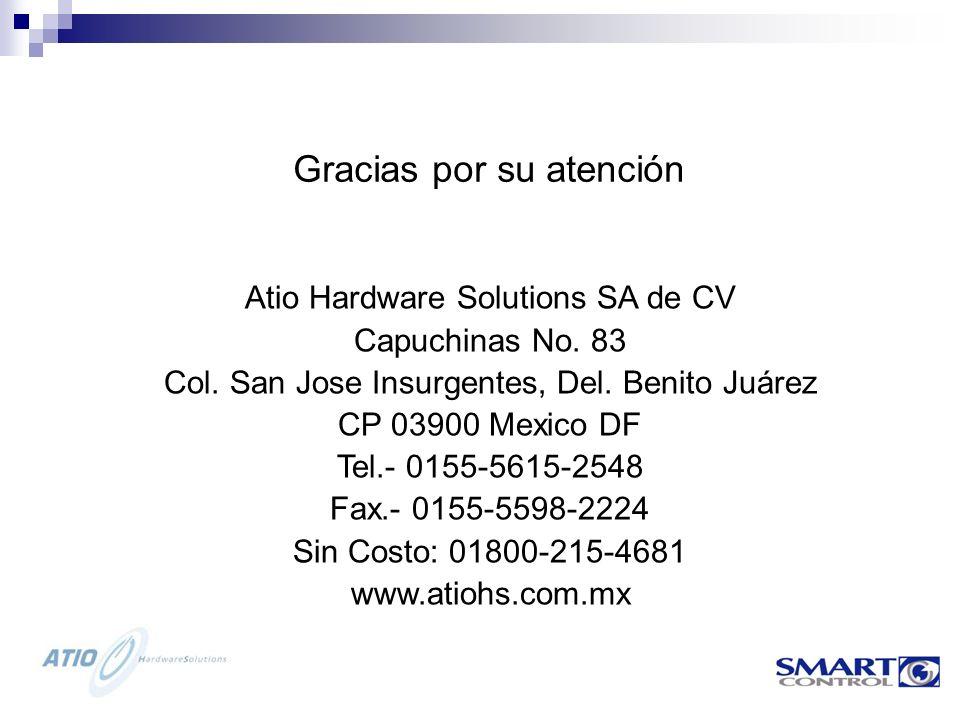 Atio Hardware Solutions SA de CV Capuchinas No.83 Col.