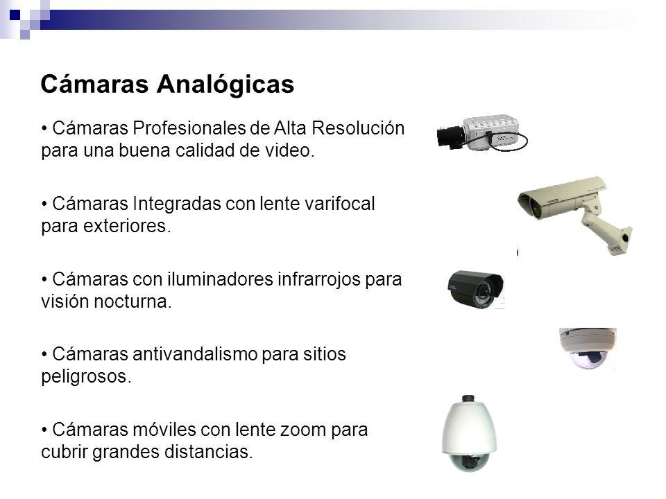 Cámaras Analógicas Cámaras Profesionales de Alta Resolución para una buena calidad de video.