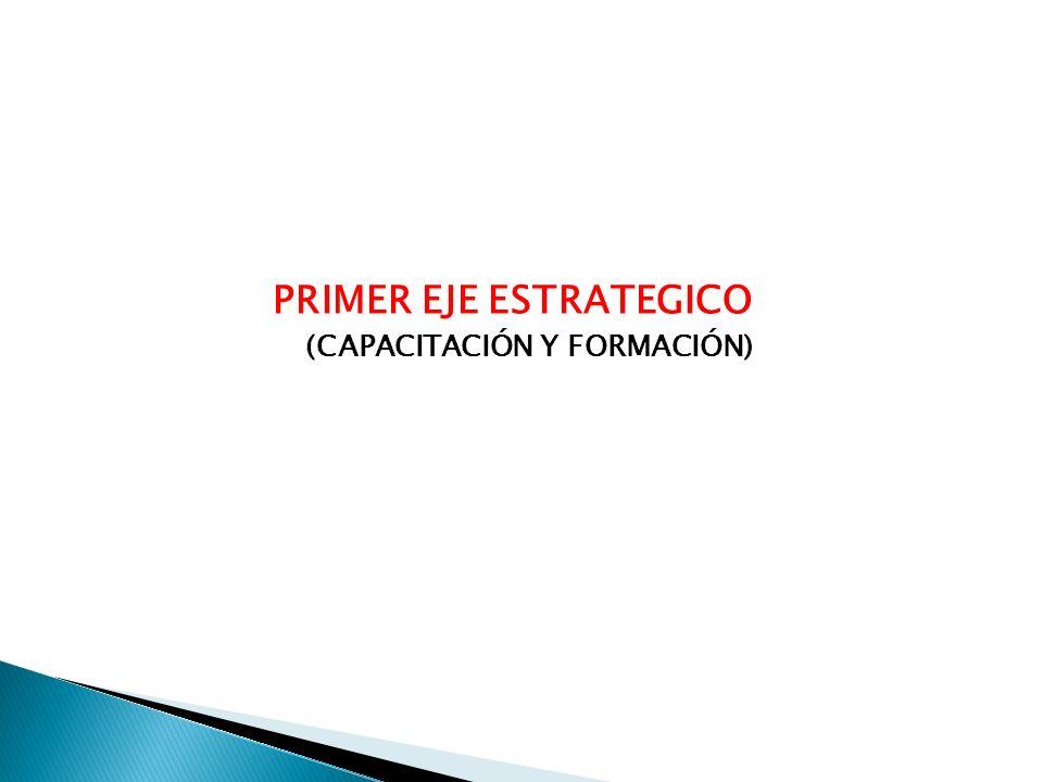 PRIMER EJE ESTRATEGICO (CAPACITACIÓN Y FORMACIÓN)