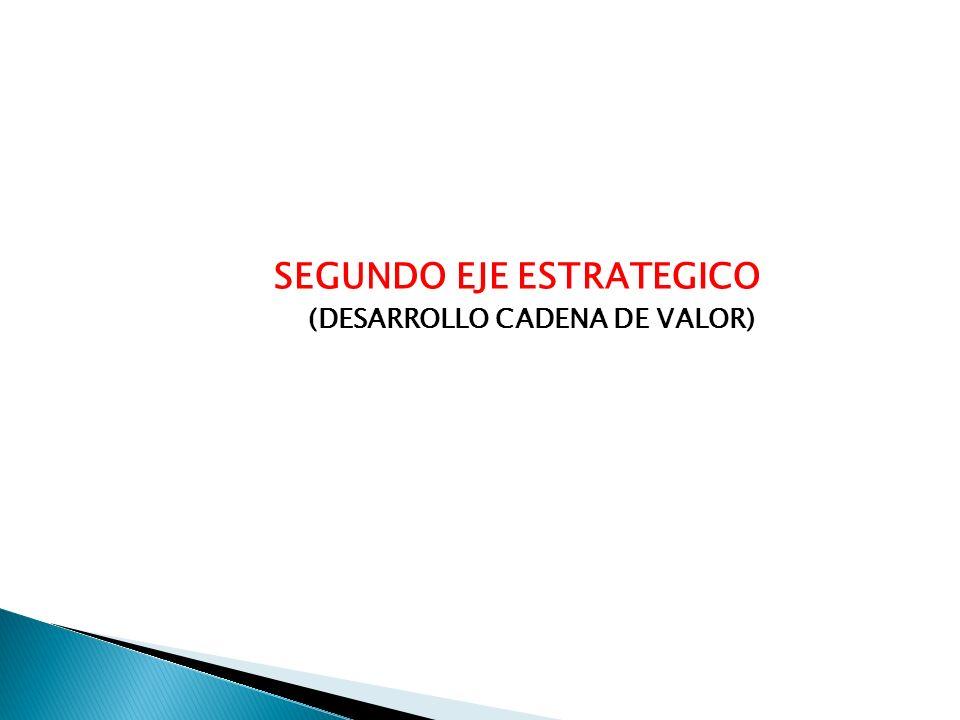 SEGUNDO EJE ESTRATEGICO (DESARROLLO CADENA DE VALOR)