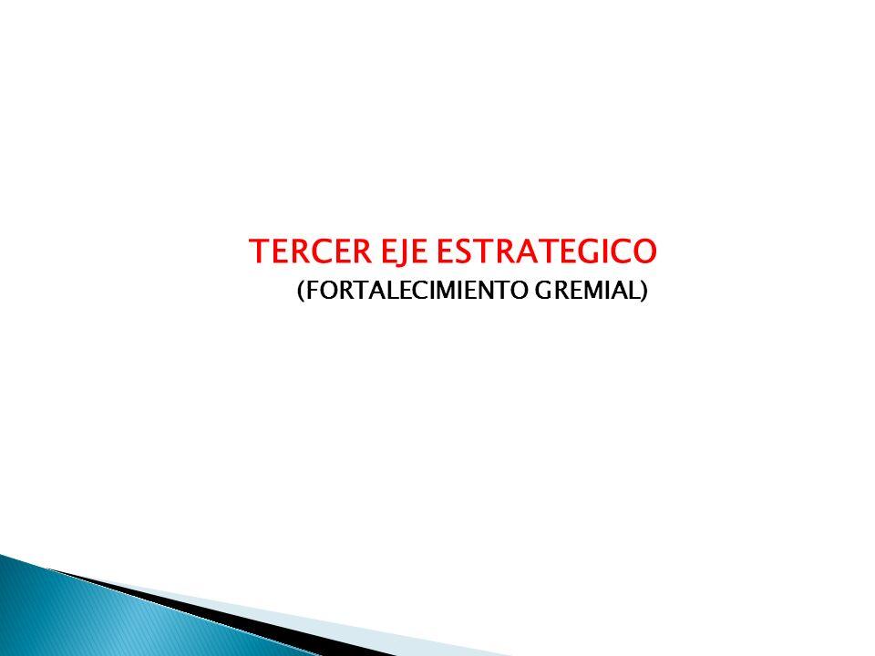 TERCER EJE ESTRATEGICO (FORTALECIMIENTO GREMIAL)