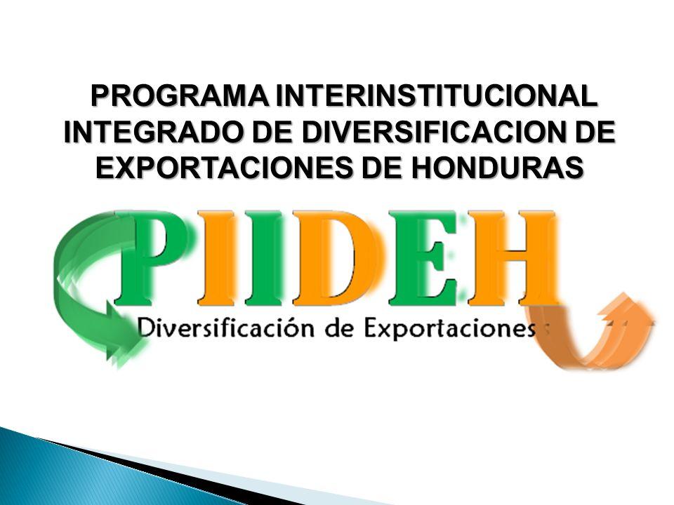 PROGRAMA INTERINSTITUCIONAL INTEGRADO DE DIVERSIFICACION DE EXPORTACIONES DE HONDURAS PROGRAMA INTERINSTITUCIONAL INTEGRADO DE DIVERSIFICACION DE EXPO