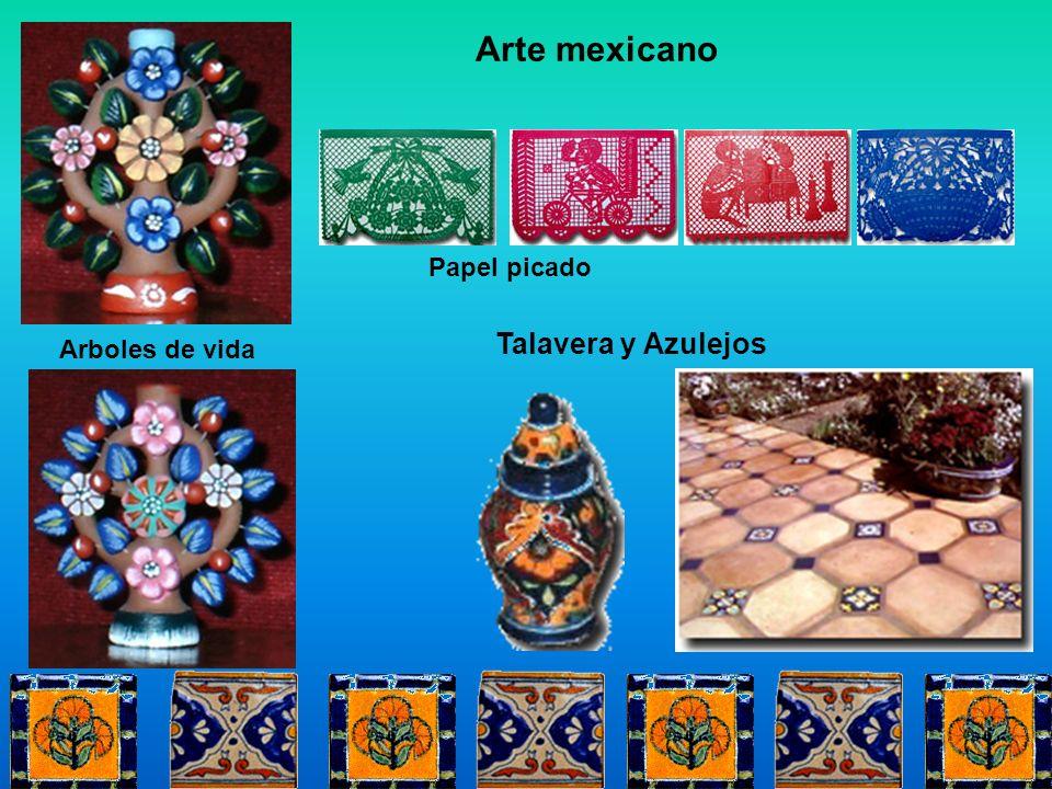 Talavera y Azulejos Arboles de vida Papel picado Arte mexicano