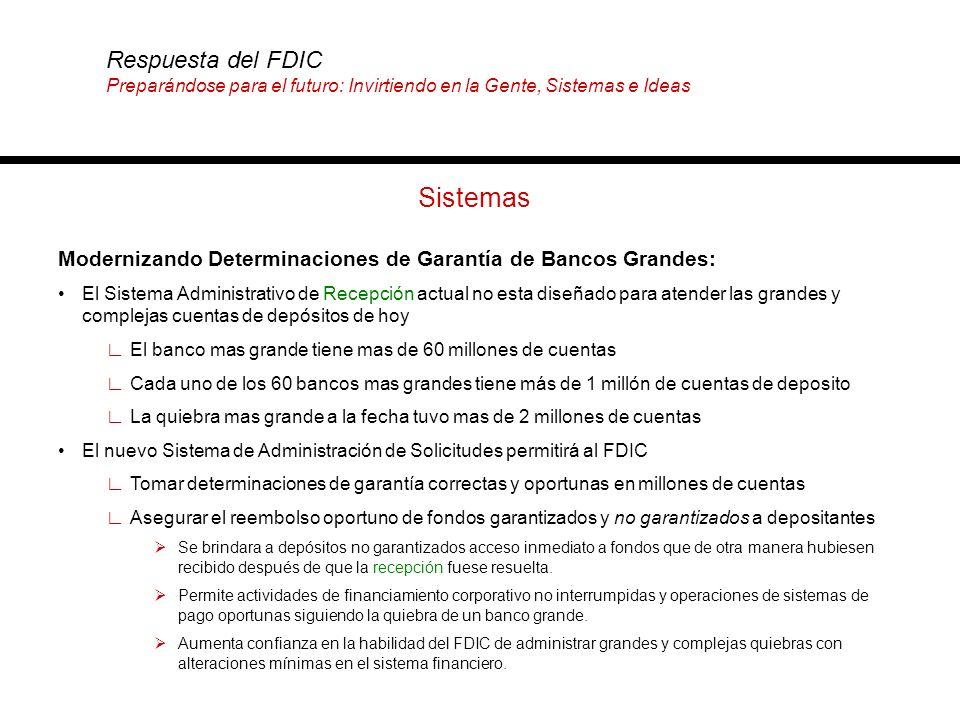 Sistemas Modernizando Determinaciones de Garantía de Bancos Grandes: El Sistema Administrativo de Recepción actual no esta diseñado para atender las g